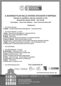 Business plan Brusa convegno